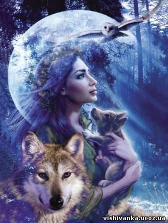 Авторская схема Волк,Волченок